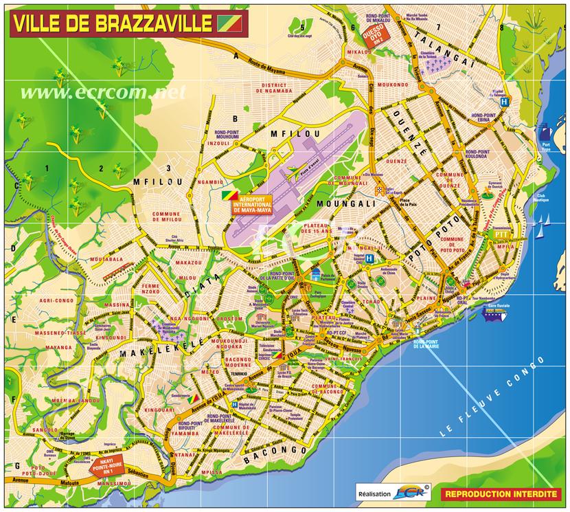 Plan de brazzaville congo info for Chambre de commerce du congo brazzaville